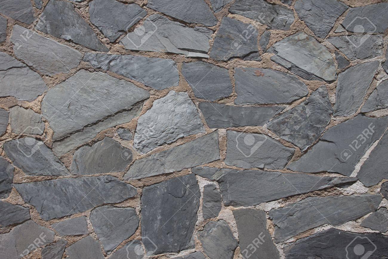 Granite flagstone pavement wall background - 14894359
