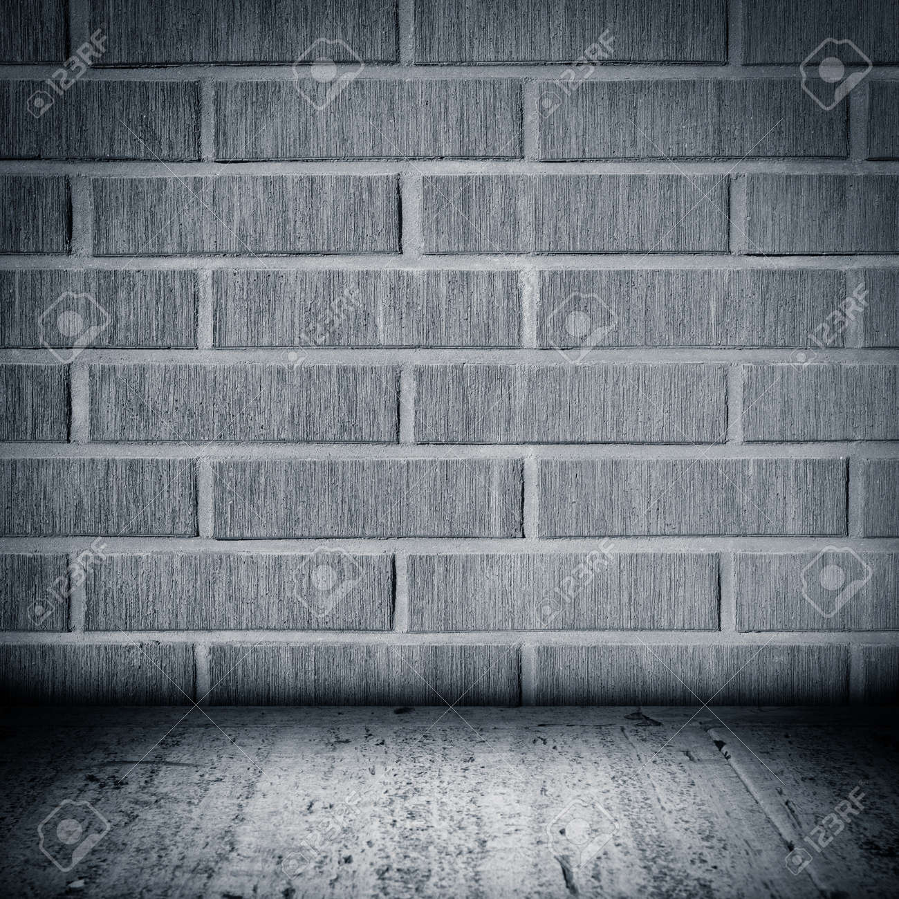 Tiled Wall With A Blank Bricks Stock Photo, Picture And Royalty Free ...