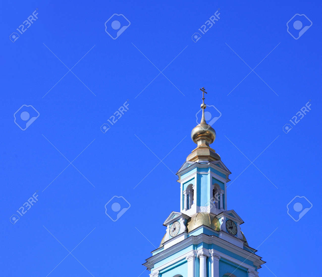 chapel tower in city center on sky background Stock Photo - 1744204