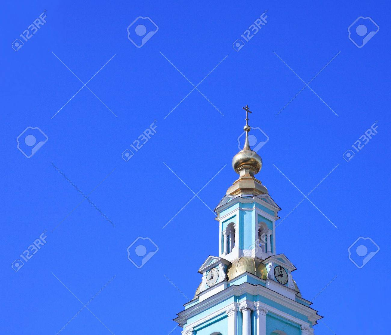 chapel tower in city center on sky background Stock Photo - 2340001