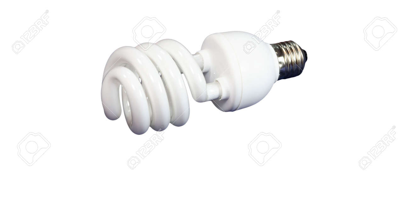 luminous tube lamp on white background, isolated Stock Photo - 3151295