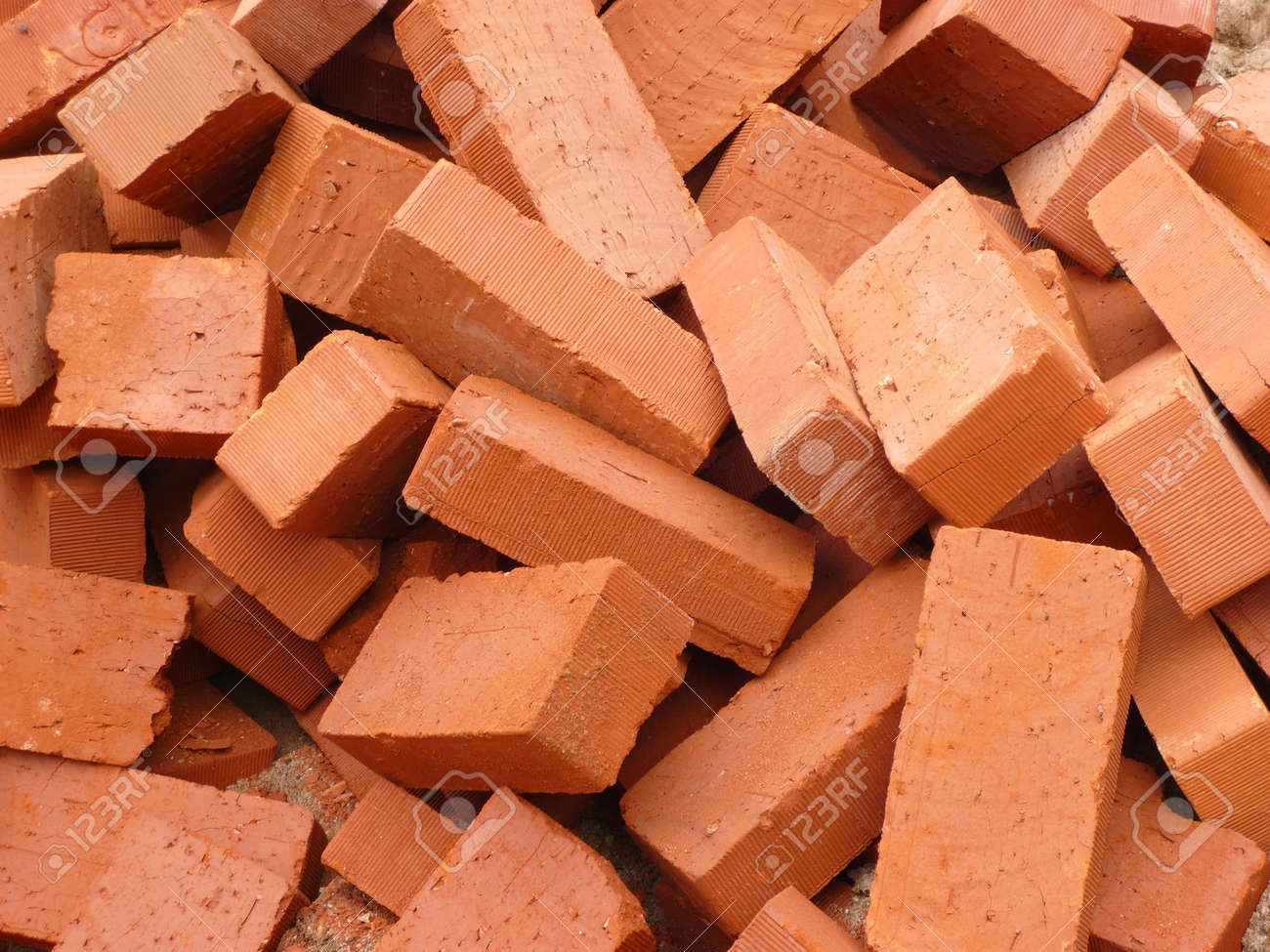 heap of red brick at day Stock Photo - 3912727