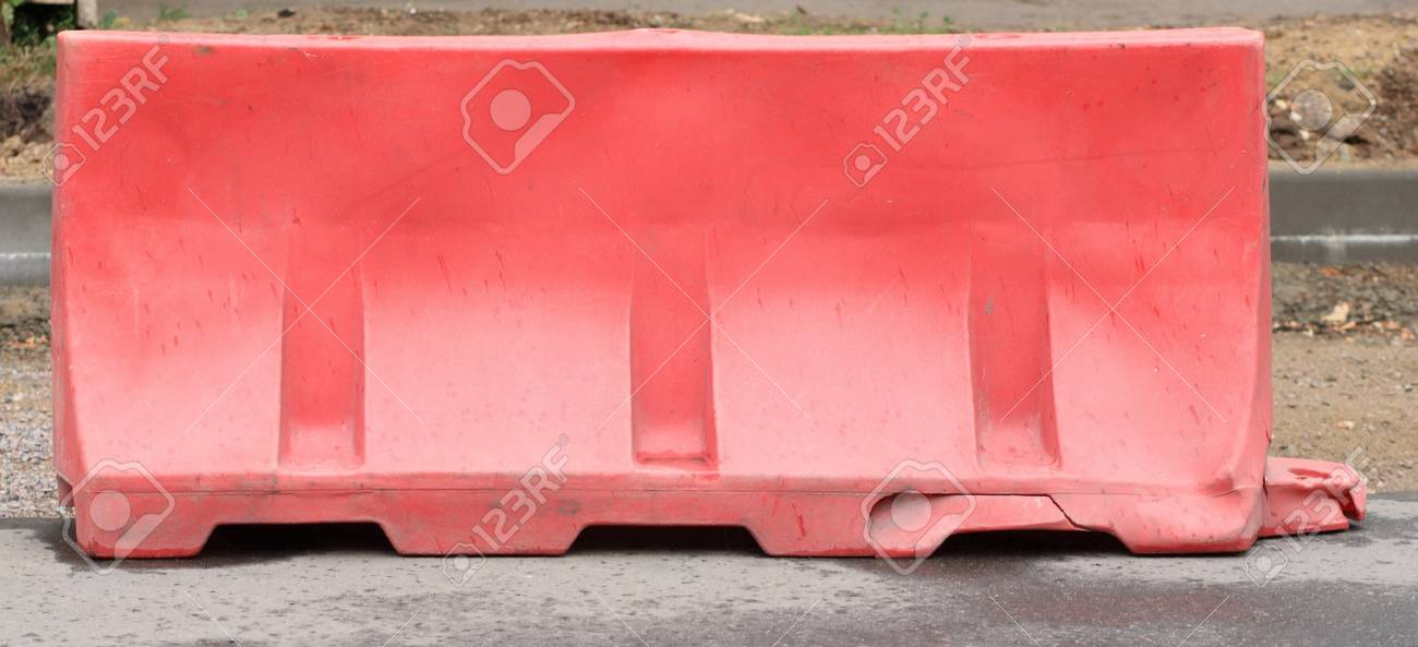 restrictive block on road at day Stock Photo - 12537618