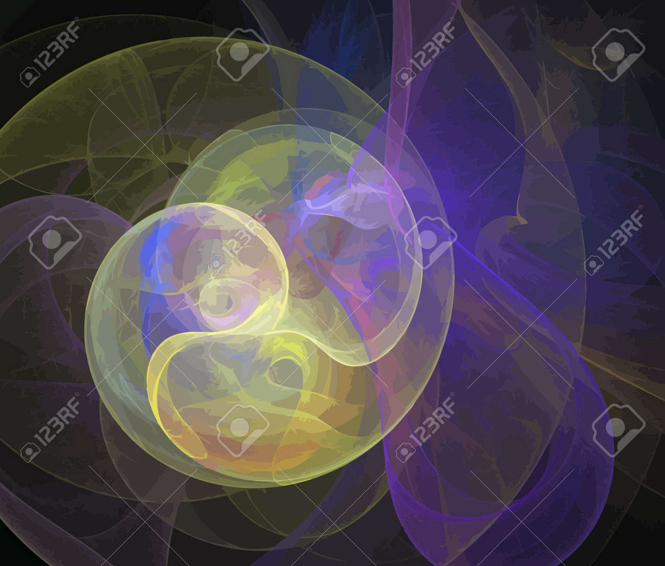 Illustration of digital fractal Stock Vector - 13704798
