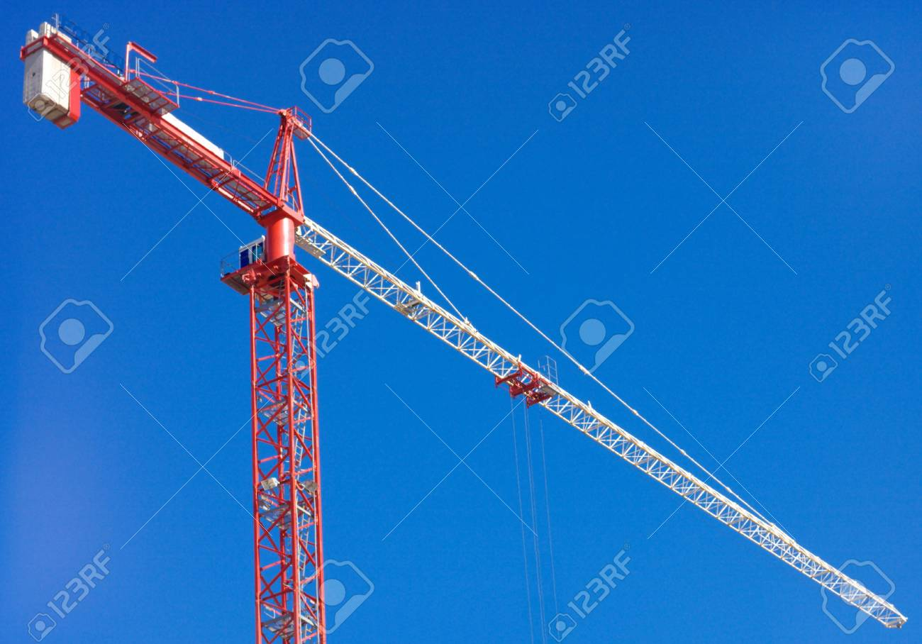 crane tower on sky background Stock Photo - 16760077