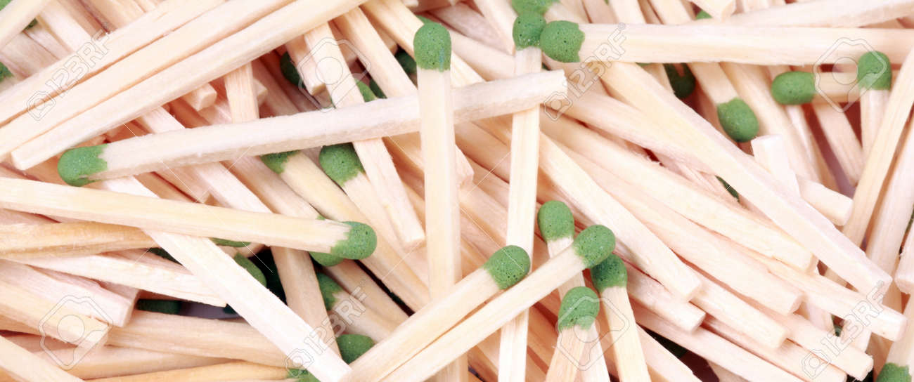 many scattering of matches Stock Photo - 17647606