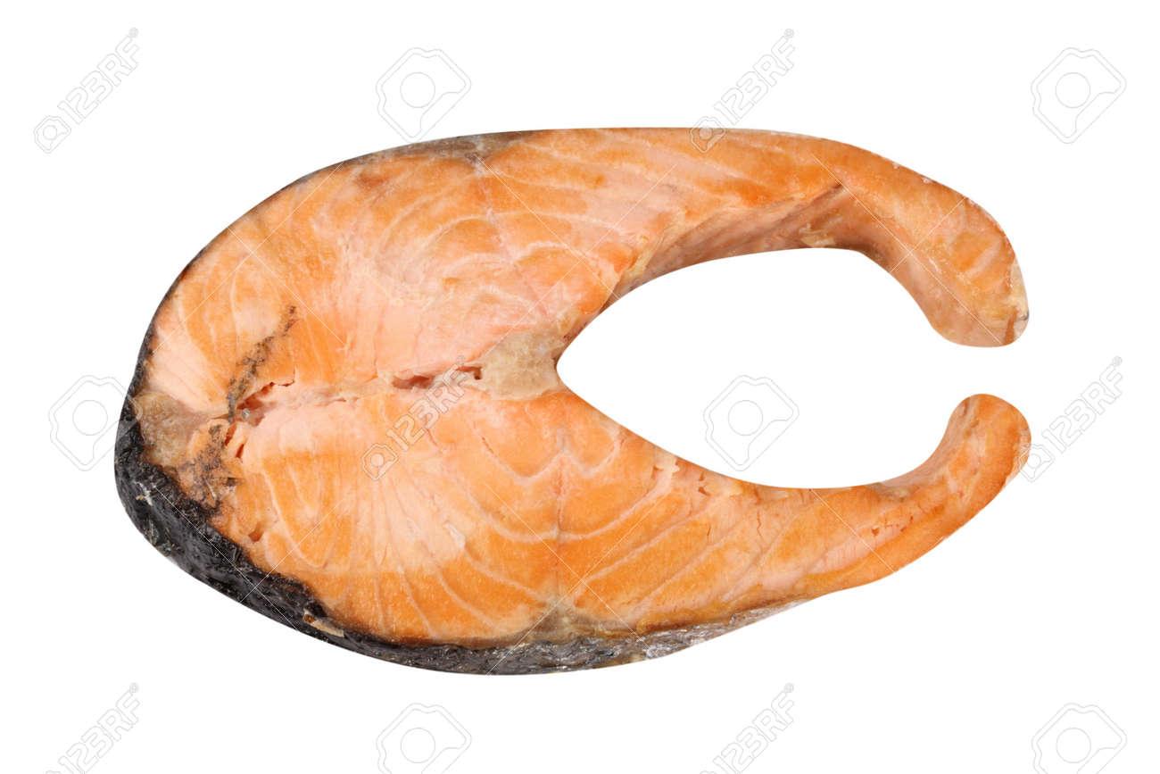 Steak of Salmon Isolated Stock Photo - 18912401