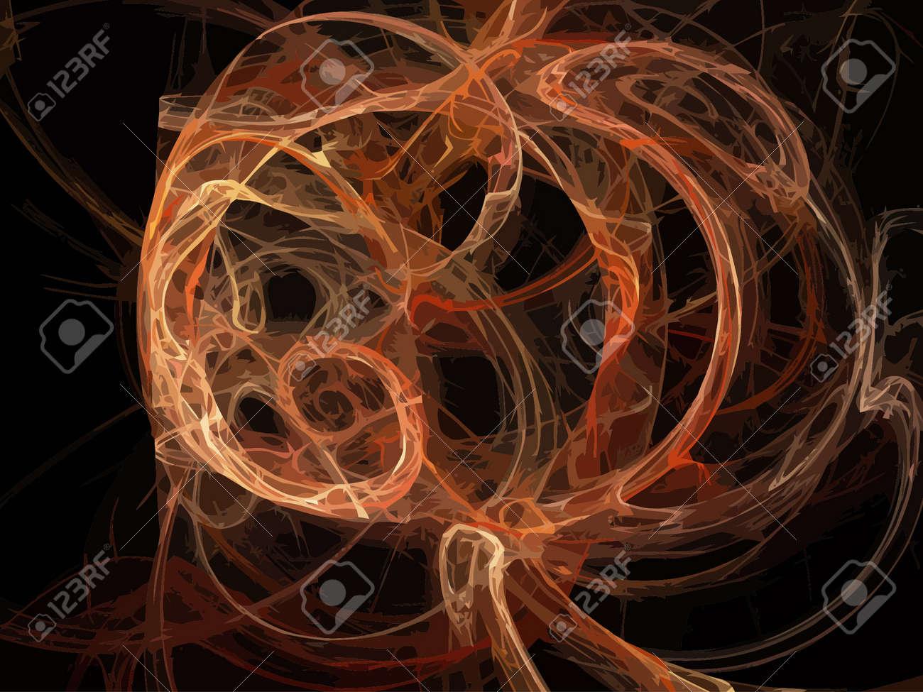 Vector Illustration of digital fractal Stock Vector - 23526215