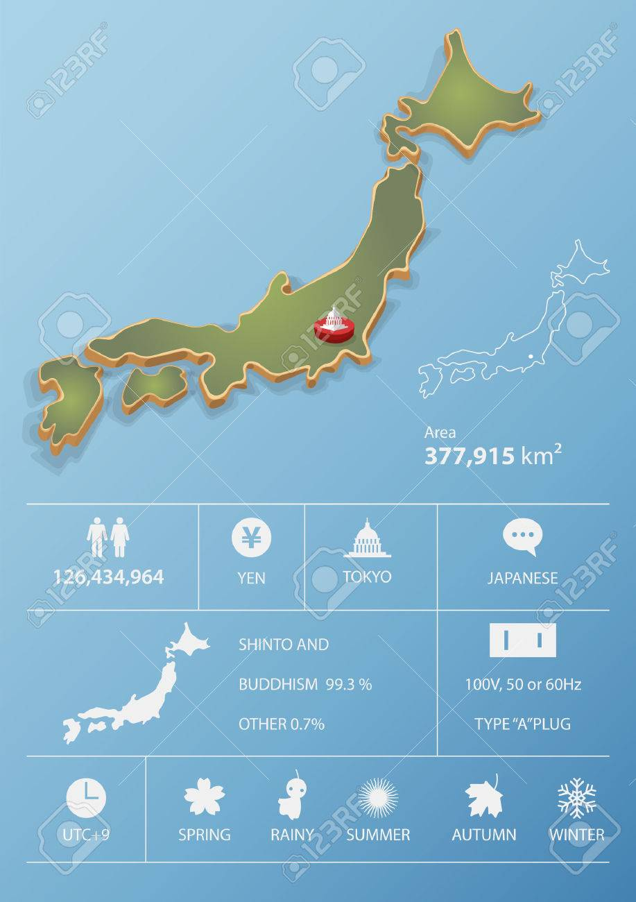 Tokyo Japan Map And Travel Infographic Template Design National - Japan map data