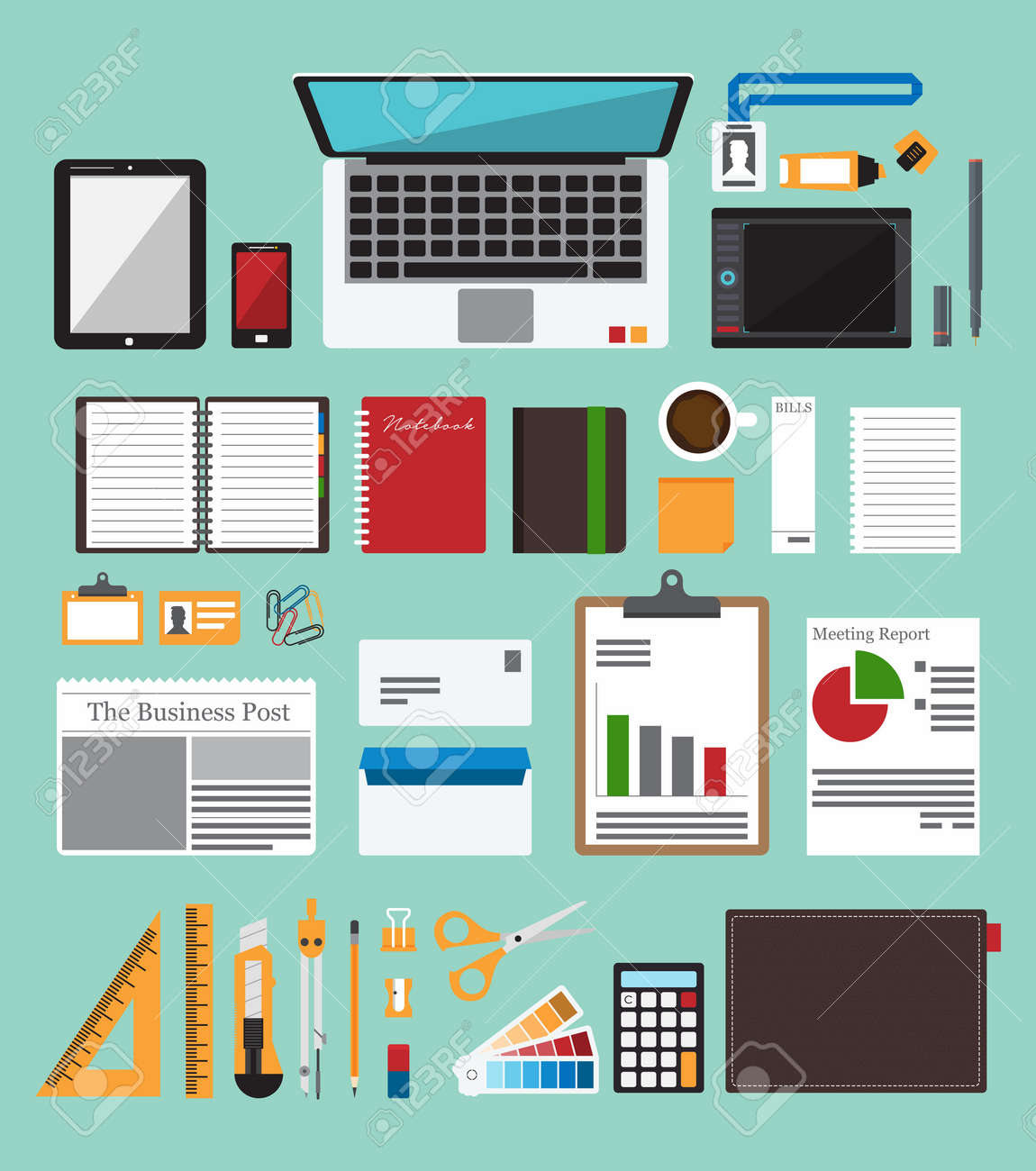 84,829 Office Desk Stock Vector Illustration And Royalty Free ...