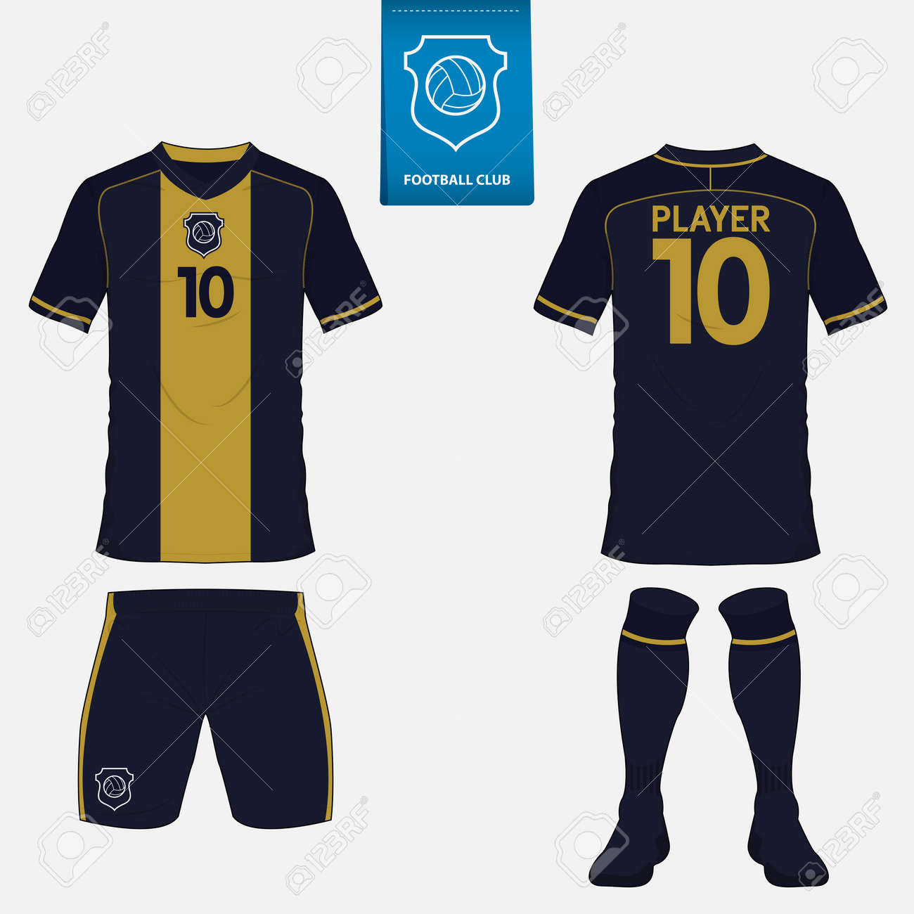 Set Of Soccer Or Football Kit Template For Your Football Club ...