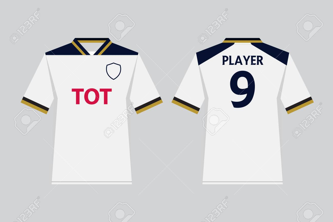 2343ef1c0 Set of soccer kit or football jersey template for football club. Front and  back view
