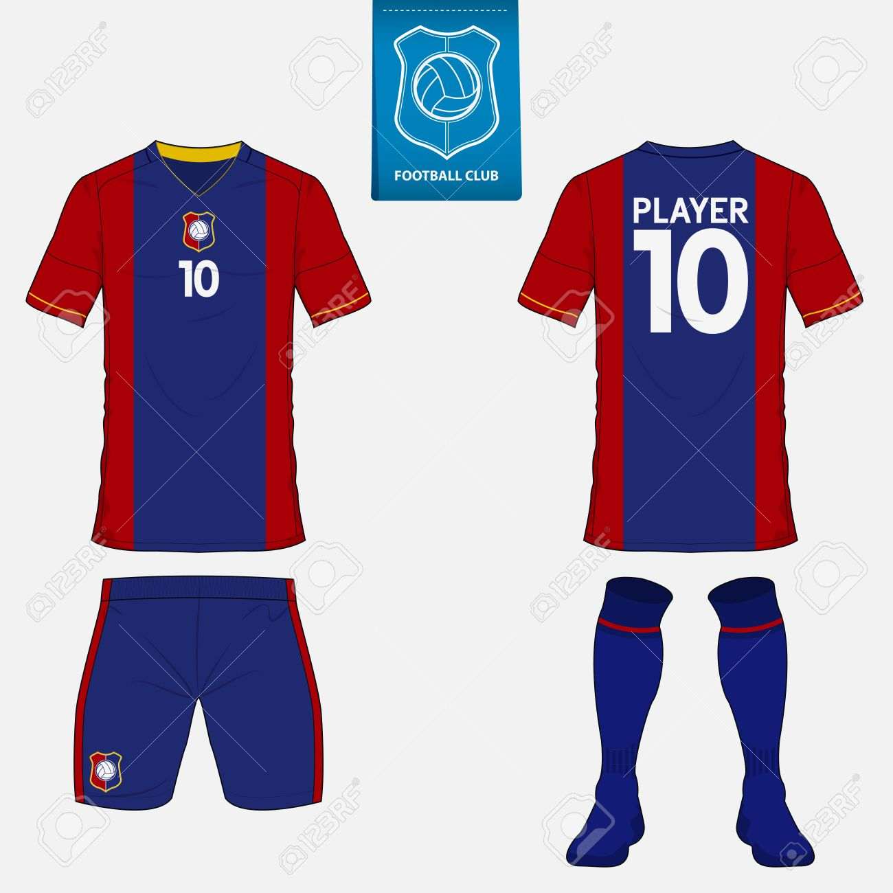 new product 37b87 384bb Set of soccer kit or football jersey template for football club...