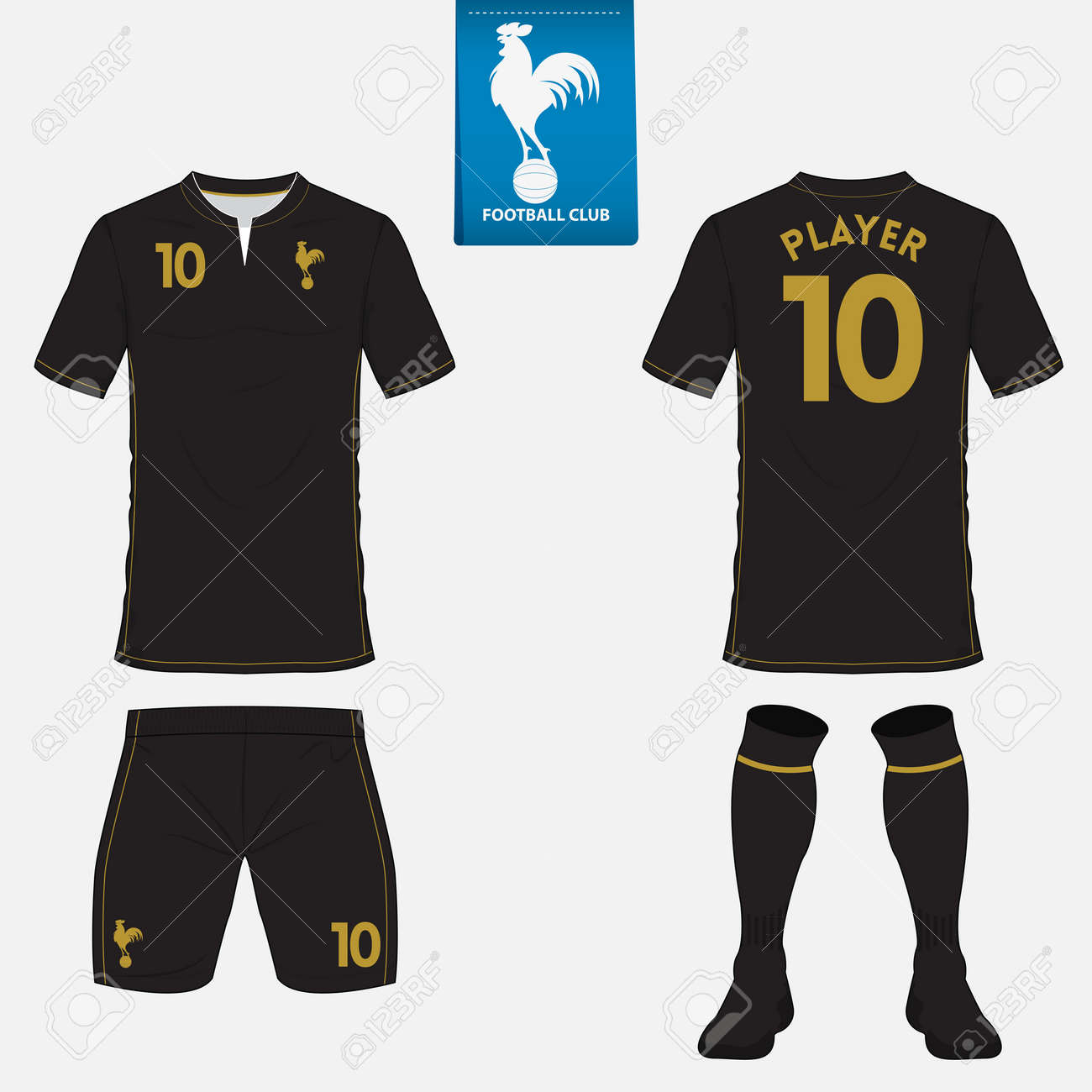 Set Of Soccer Jersey Or Football Kit Template For Football Club ...