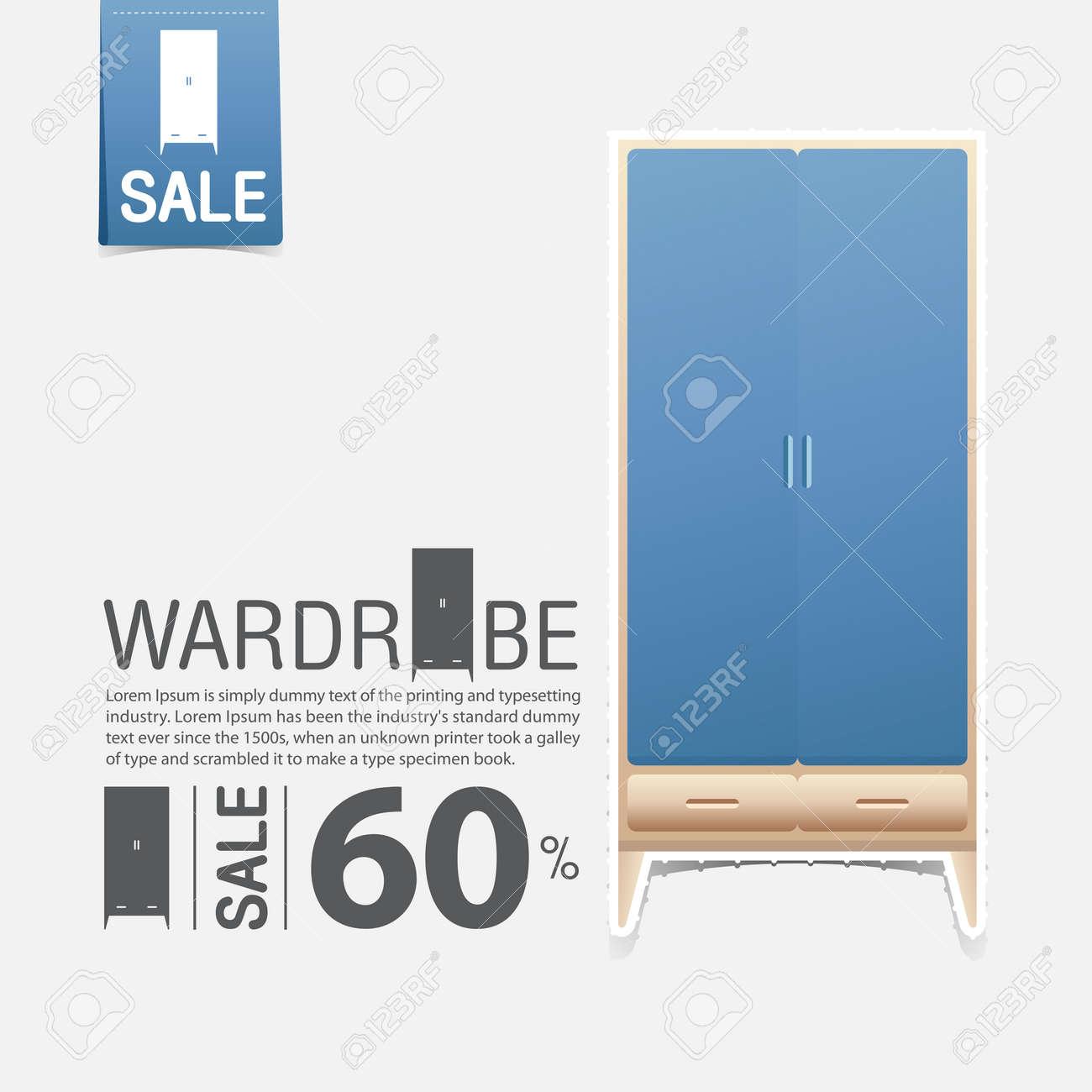 Awe Inspiring Wardrobe In Flat Design For Home Interior Minimal Icon For Furniture Inzonedesignstudio Interior Chair Design Inzonedesignstudiocom
