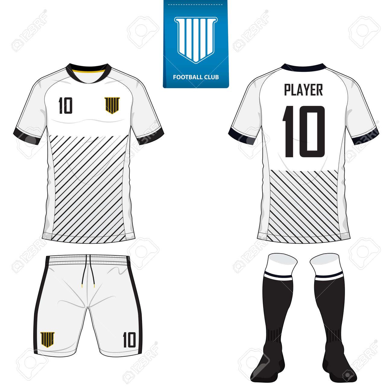 Set Von Kurzen Hülse Fußball Trikot Oder Fußball-Kit Vorlage Für ...