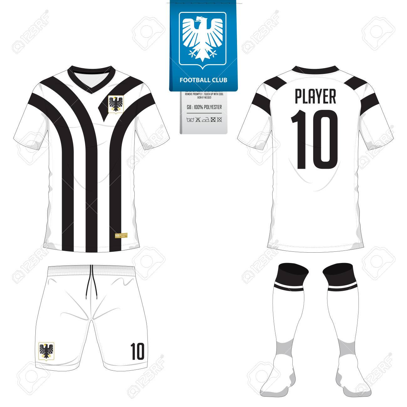 Set of short sleeve soccer jersey or football kit template for football club.  Football shirt 21e1a5fa5