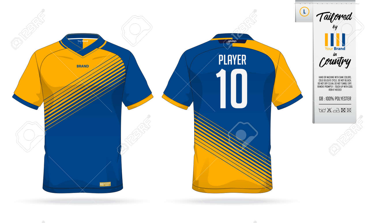 Sport T Shirt Or Soccer Jersey Template For Sport Club Sportswear