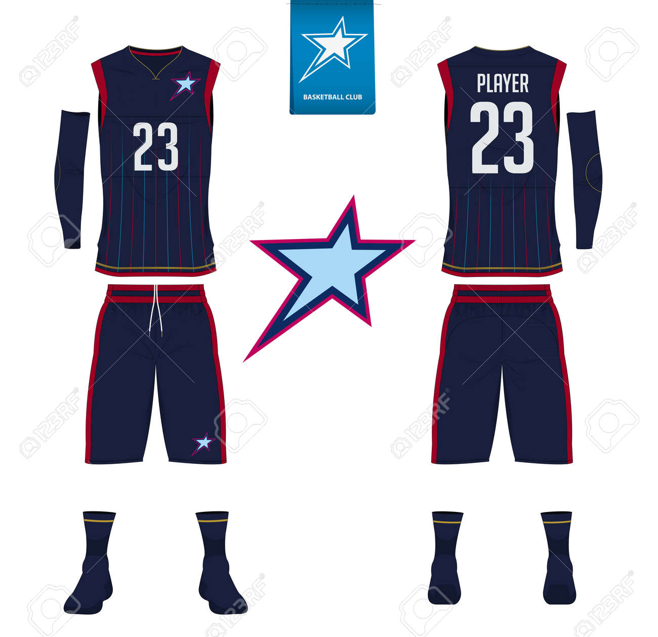 info for a2c32 680b1 Basketball jersey, shorts, socks template for basketball club...