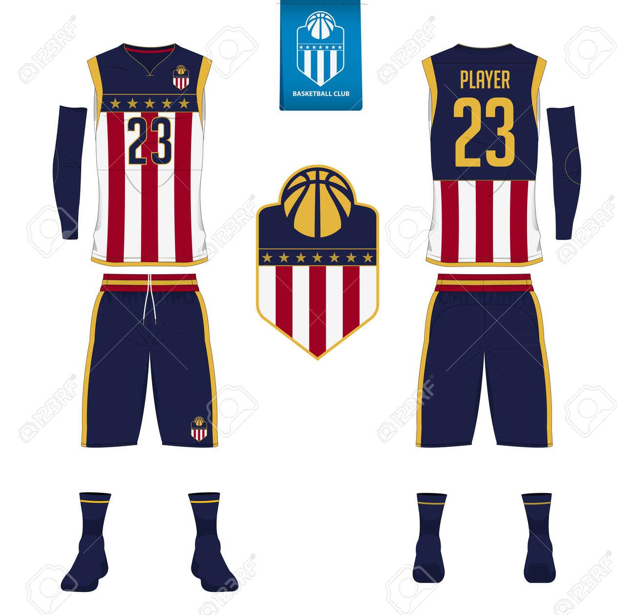 f59458c0f212 Maillot de basket-ball, short, chaussette modèle pour club de basketball.  Avant