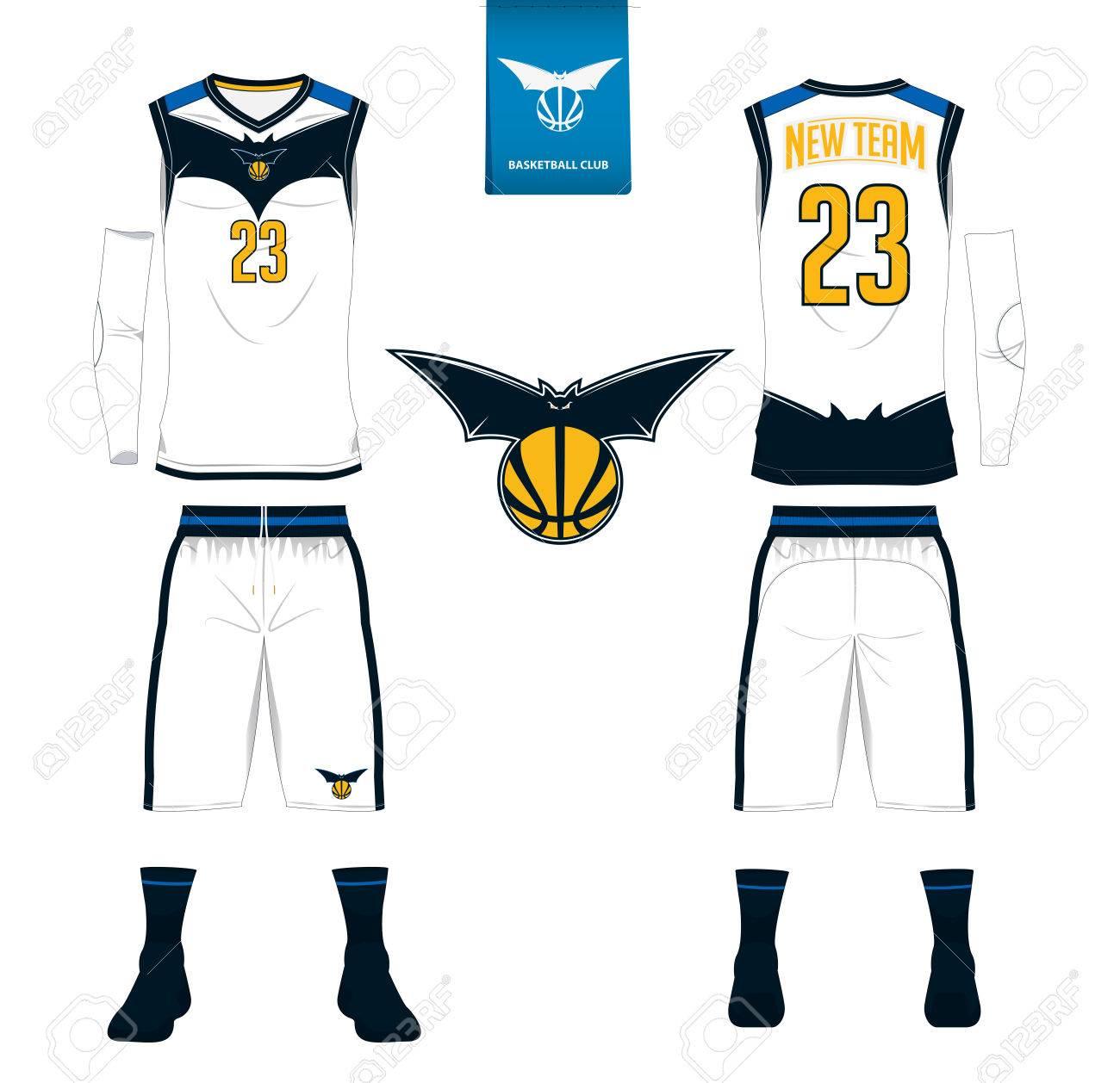 Basketball Trikot, Shorts, Socken Vorlage Für Basketball-Club ...