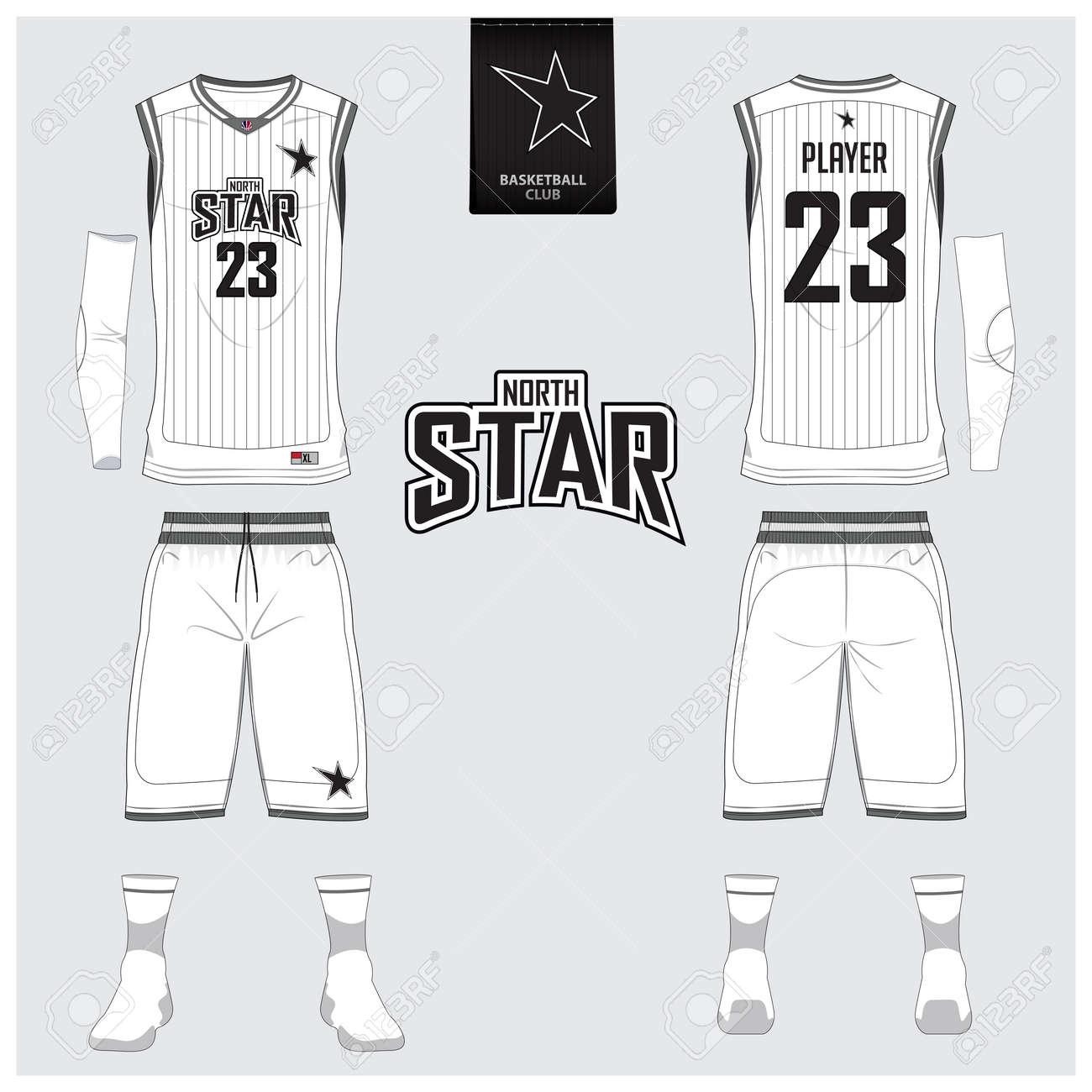 Basketball Uniform Oder Jersey, Shorts, Socken Vorlage Für ...