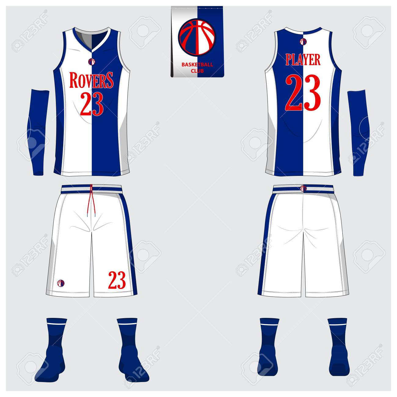 Basketball Uniform Or Jersey Shorts Socks Template For Basketball