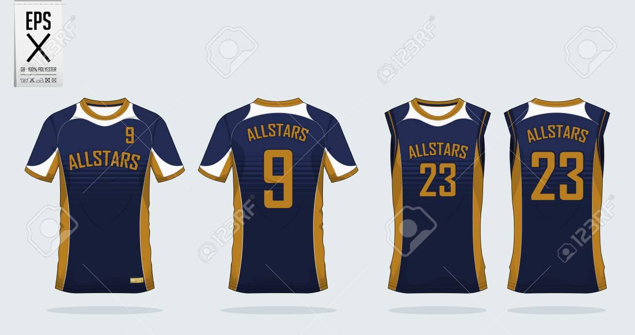 T-Shirt Sport Design-Vorlage Für Fußball-Trikot, Fußball-Kit Und ...