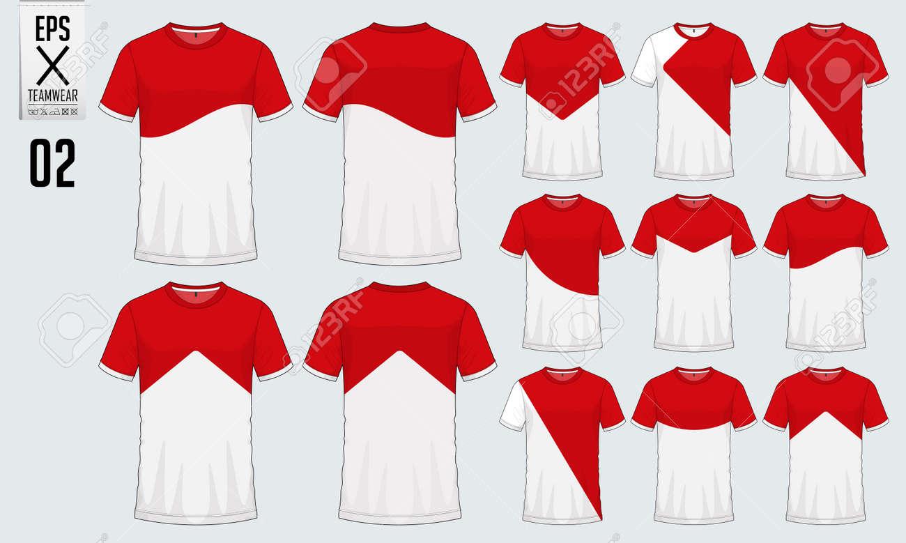 Diseño Del Deporte De La Camiseta Para La Plantilla Del Equipo Del ...