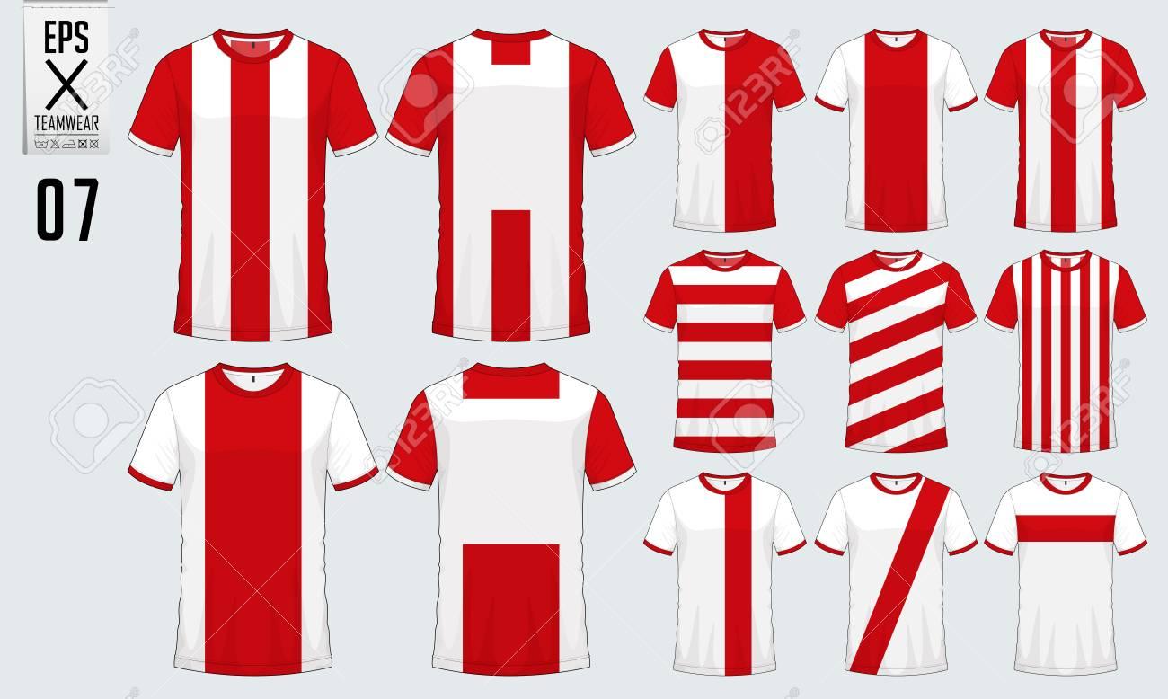 Diseño Del Deporte De La Camiseta Para El Jersey Del Fútbol 2f0b8fd574340