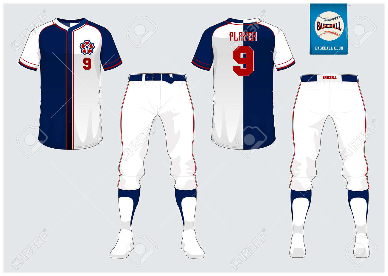 baseball jersey sport uniform raglan t shirt sport short sock template