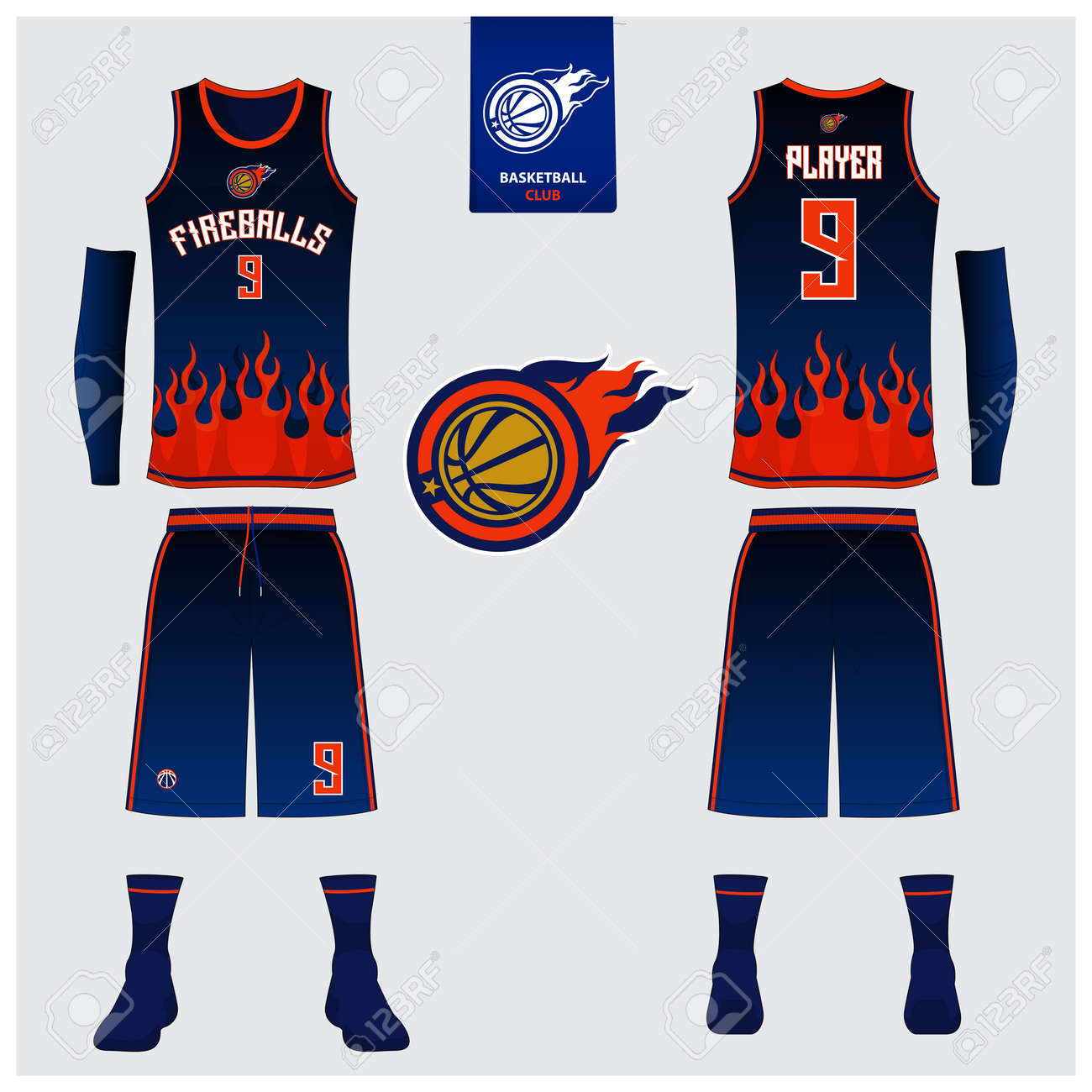 c4a4ab87fe9 Basketball uniform template design. Tank top t-shirt mockup for basketball  jersey. Front