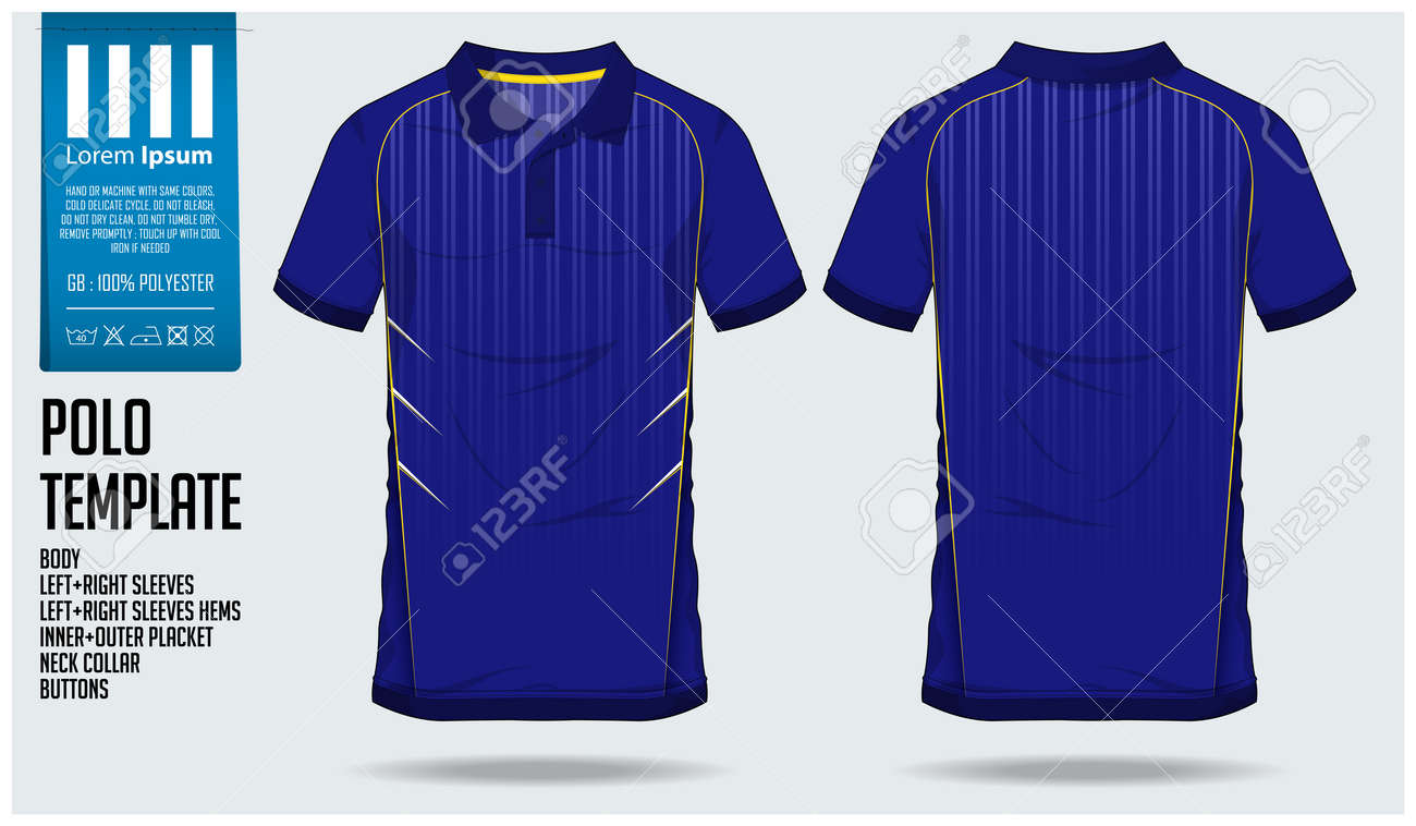Polo Shirt Sports Design Template For Soccer Jersey Football