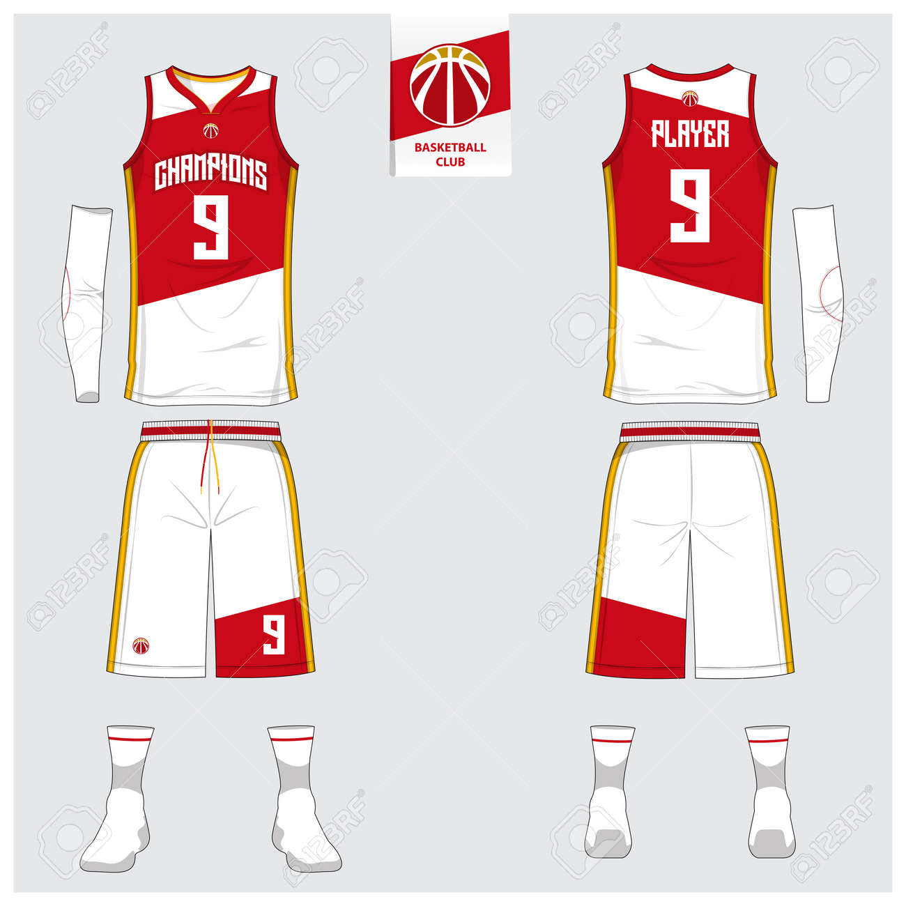 76859f57043f Basketball Jersey Or Sport Uniform Design Royalty Free Cliparts ...