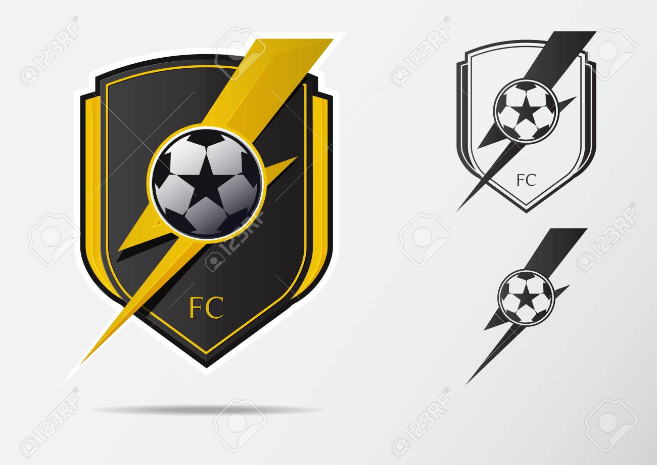 Soccer Or Football Badge Logo Design For Football Team Minimal Royalty Free Cliparts Vectors And Stock Illustration Image 99262253