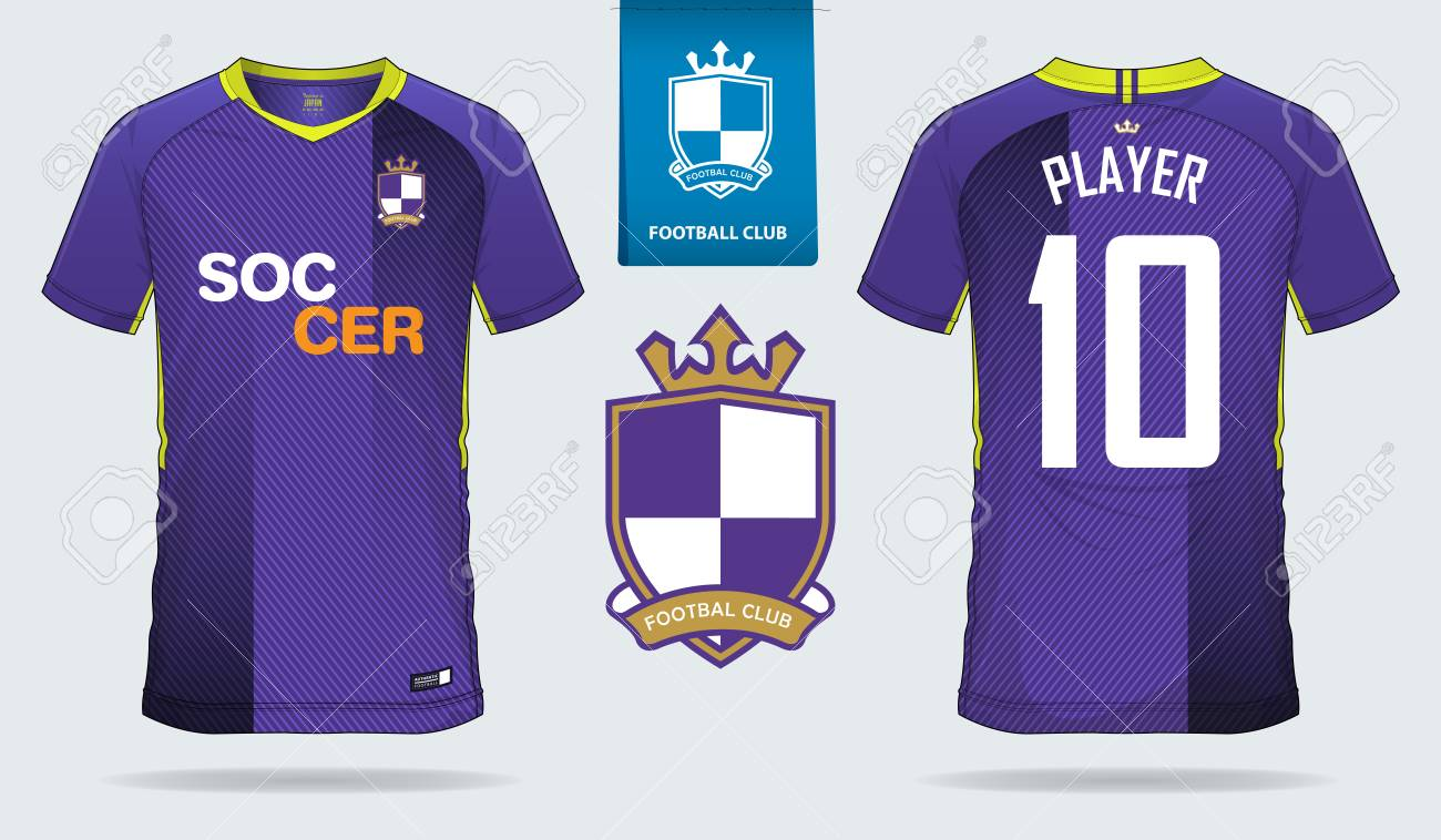 Soccer Stock Football Image Cliparts Free Royalty Illustration 99562116 Jersey Sport Violet Sock T-shirt Kit And Short Vectors