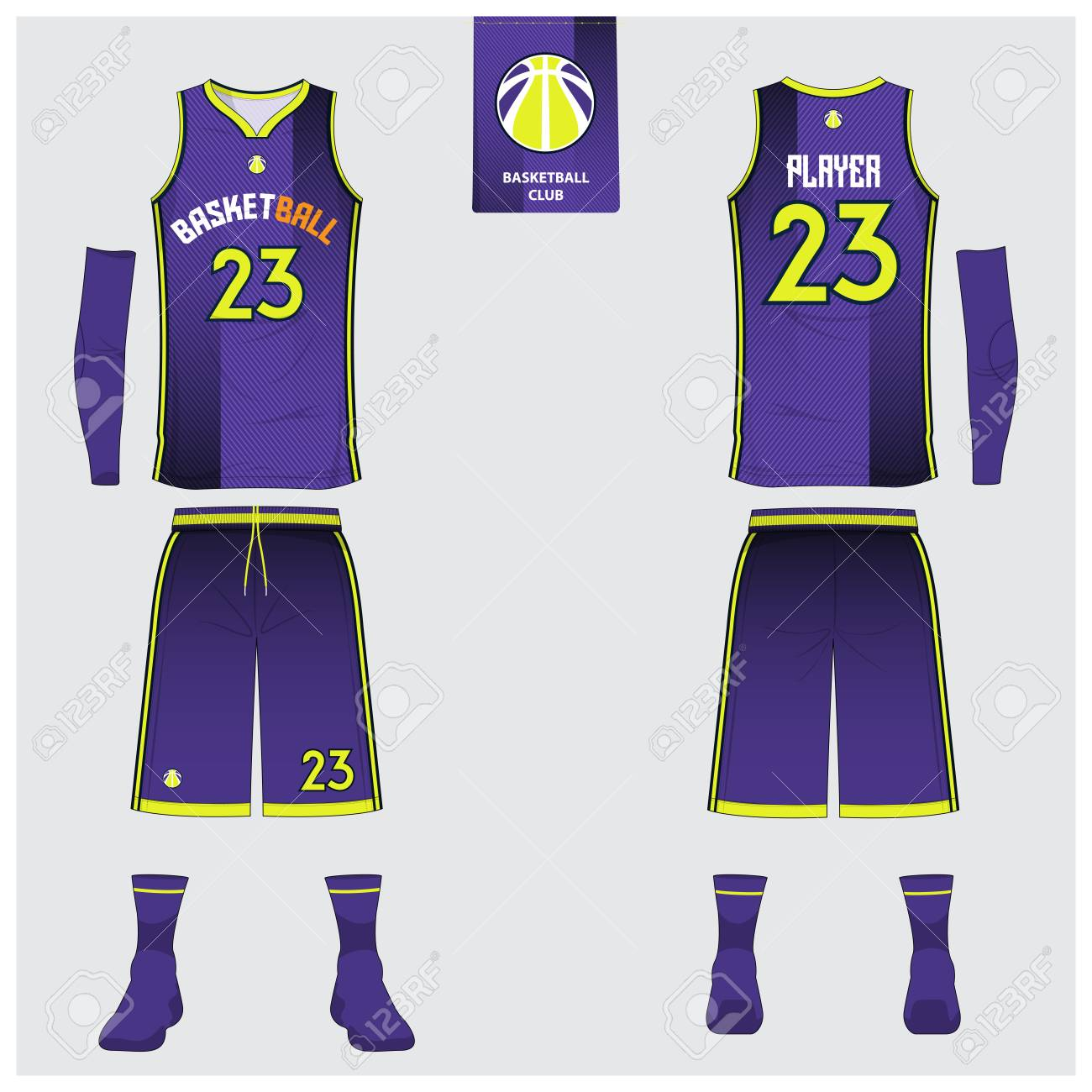 online retailer c609b 68569 Basketball uniform or sport jersey, shorts, socks template for..