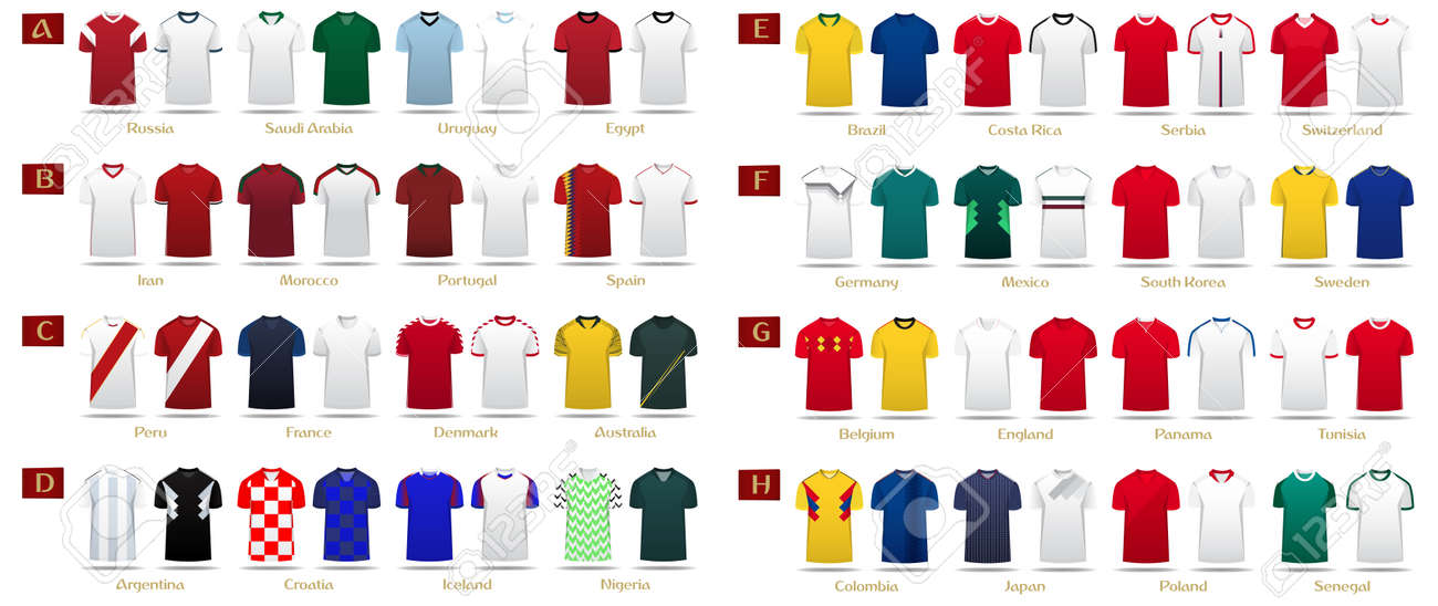 bda8155e5 Soccer kit or football jersey template design for national football team.  Home and Away soccer