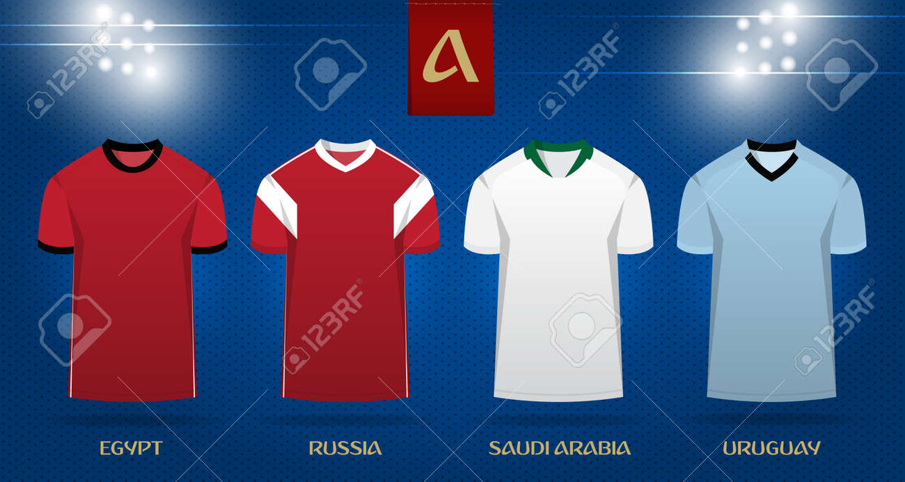 646c596757f Soccer kit or football jersey template design for national football team.  Front view soccer uniform