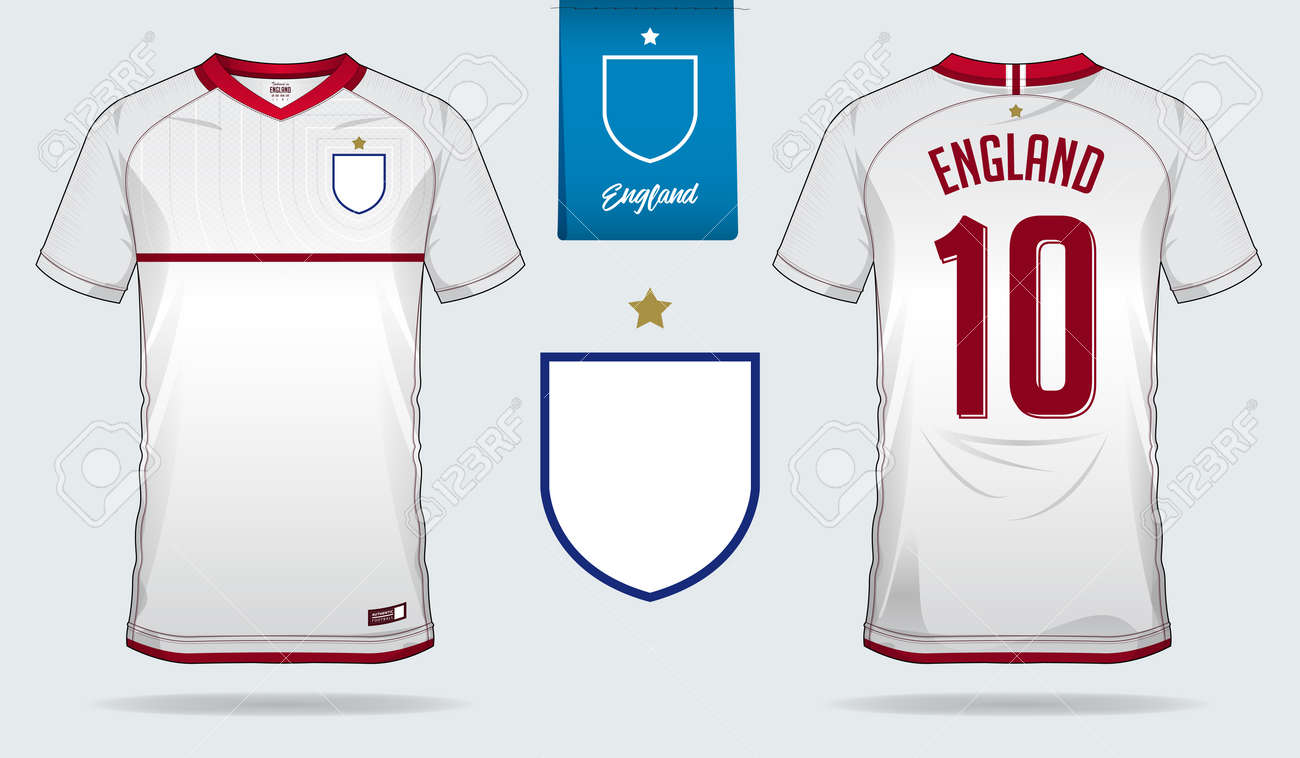 size 40 e375c 9749e Set of soccer jersey or football kit template design for England..
