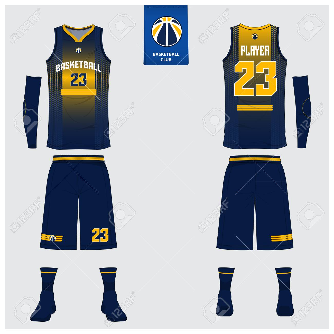 3071075a7d8 Basketball jersey or sport uniform template design for basketball club.  Front and back view sport