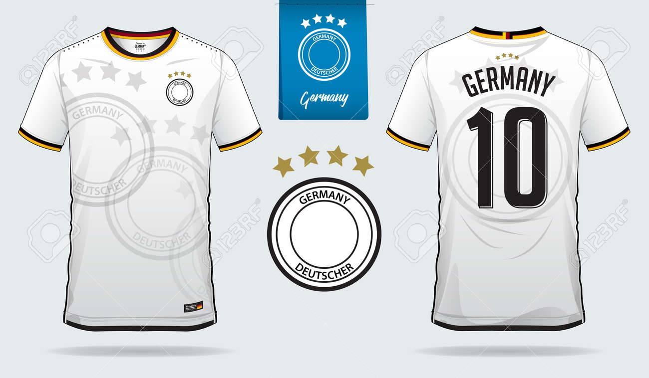 huge selection of 9a620 767c9 Soccer jersey or football kit template design for Germany national..