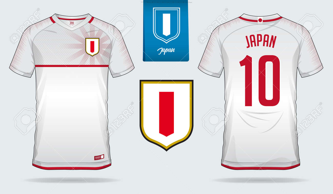 official photos 6b9cd d3381 Soccer jersey or football kit template design for Japan national..