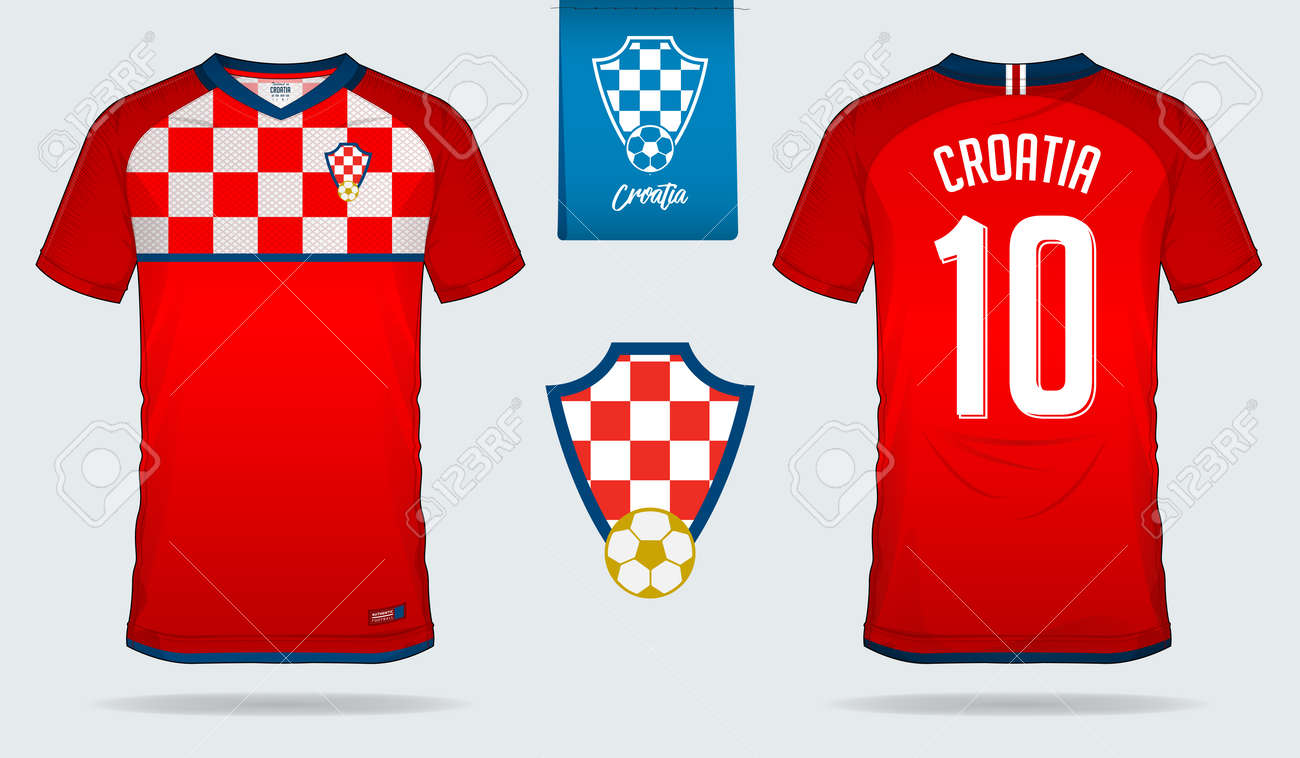 Soccer jersey or football kit template design for Croatia national football  team. Front and back e08819e5c