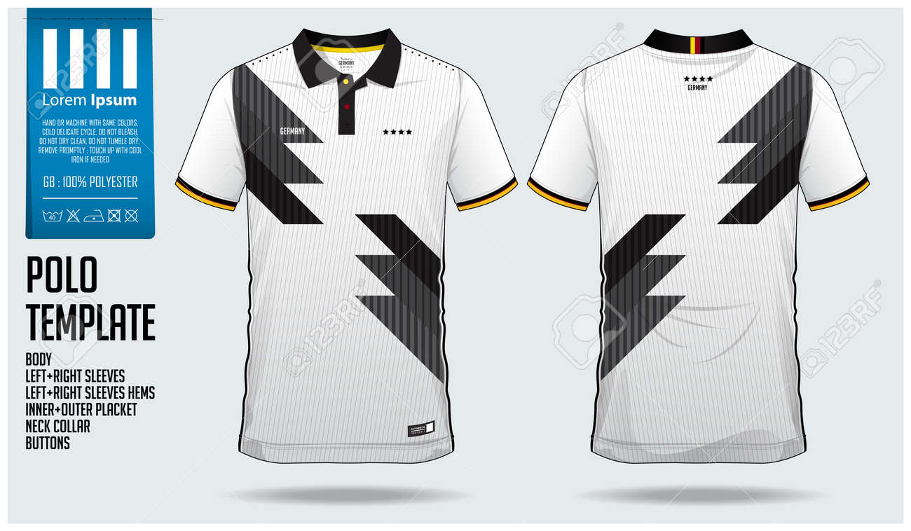 Germany Team Polo T Shirt Sport Template Design For Soccer Jersey
