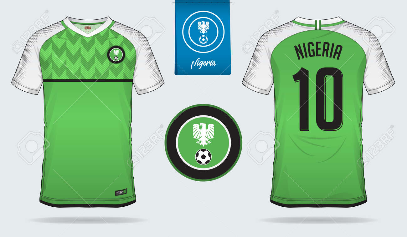 super popular 80d12 75d35 Soccer jersey or football kit template design for Nigeria national..