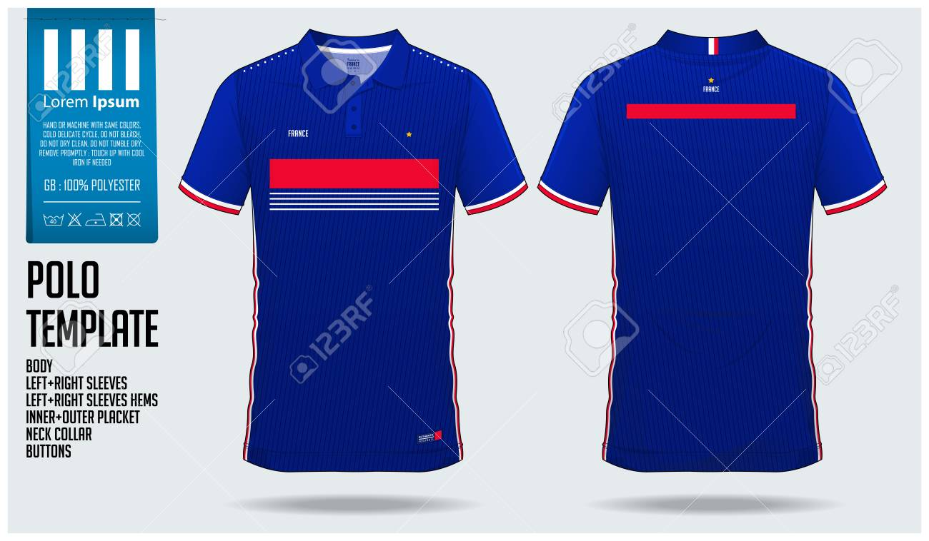 France Team Polo T-shirt Sport Template Design For Soccer Jersey ... 1fe2ce6b5