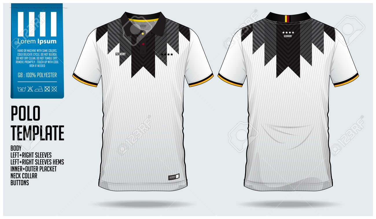 Germany Team Polo t-shirt sport template design for soccer jersey,..