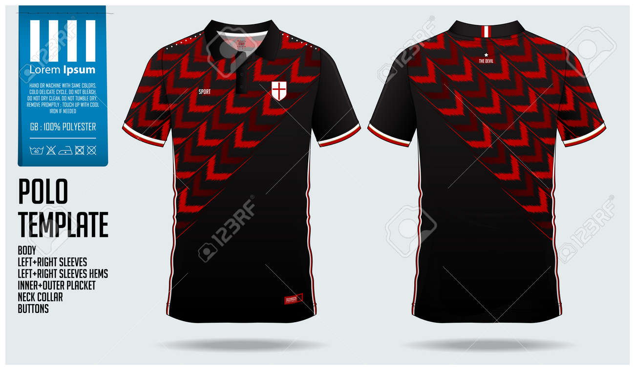 8657f547 Red Arrow Polo shirt sport template design for soccer jersey, football kit  or sportwear.