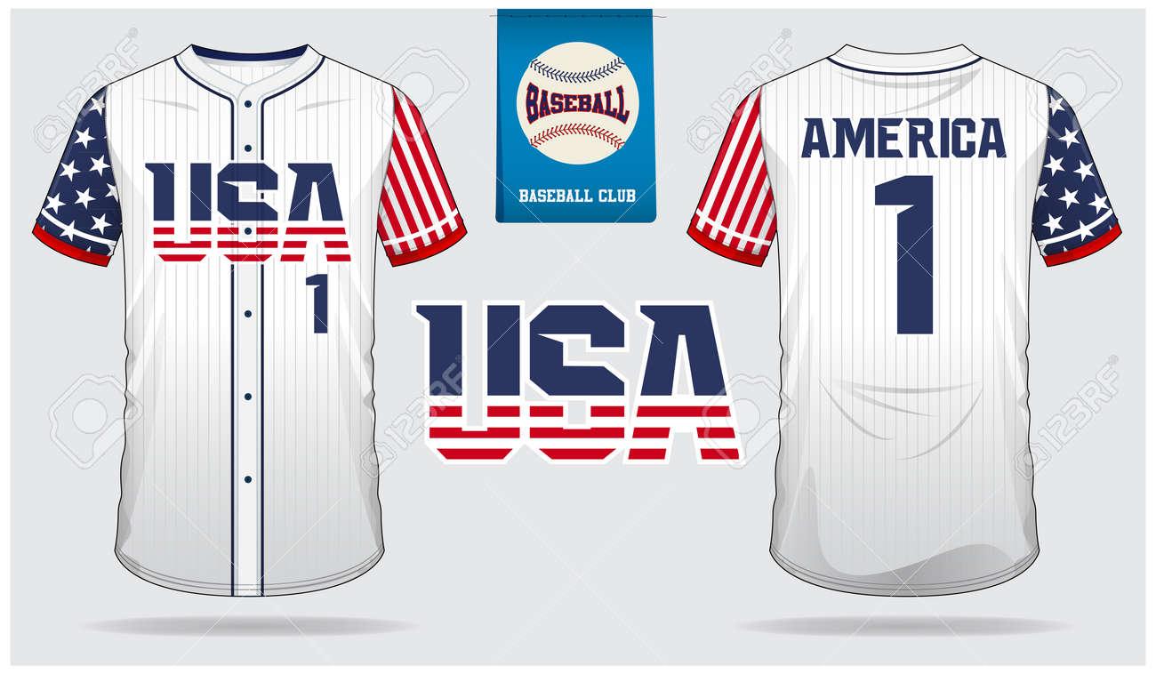 c83a7ddba3d Vector Illustration. USA Baseball jersey, sport uniform, raglan t-shirt  sport, short, sock